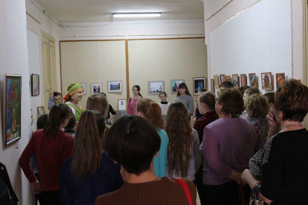 1 просмотр выставки педагогов