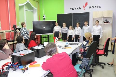 Приветствие участников учащимися школы